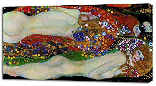 (Gustav Klimt WATER SERPENTS CANVAS PRINT Home Wall Decor Art On Giclee Painting P010, Huge)