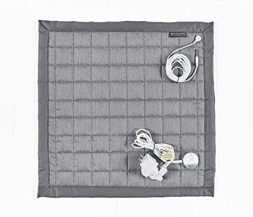 shieldgreen-Complex Earthing Therapy Square Pad(Sanitary Stainless Steel Fabric, 20x20 inch) + Earthing snap(for Basic Earthing)+Earthing Holder(for Focus Earthing)+Adapter