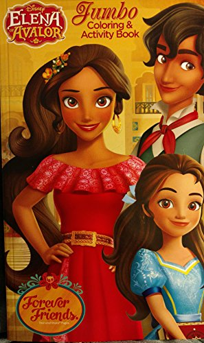 4sgm 60498 elena of avalor jumbo coloring activity book forever friends multi