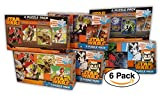6 Pack Star Wars 100-piece Party Favors Puzzle 4-pack, Assorted Designs, Episode 7