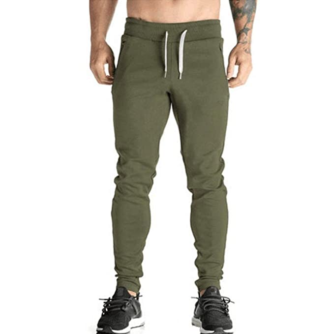 ITALY MORN Hombre Jogger Cargo Casual Pantalón Slim Fit Jogging Algodón zliBgs8d