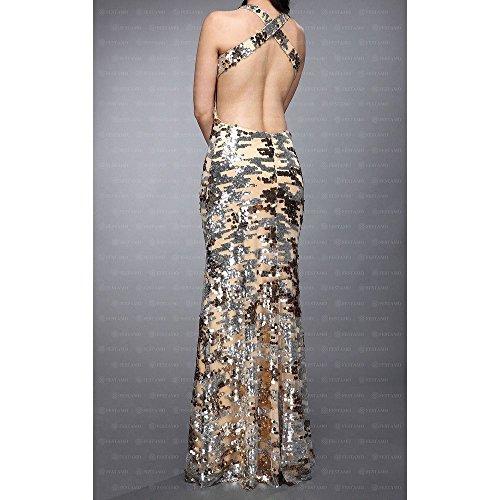 Ital Kleid Damen Festamo Gold Maxi bei Design Für Ball PqUzYxFB