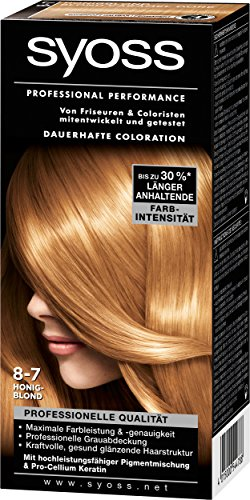 Syoss Professional Performance Coloration, 8-7 Honigblond, 3er Pack (3 x 1 Stück)