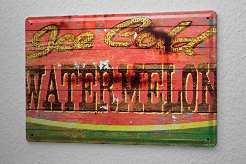M.A. Allen Retro tin sign metal plate U.S. Deco watermelo...