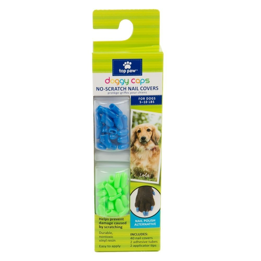 Amazon.com: Top Paw Doggy Caps No-scratch Nail Covers For Dogs 5-10 ...