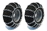 New PAIR 2 Link TIRE CHAINS 15x6x6 15x5x6 14x5.50x5 for UTV ATV 4-Wheeler Quad by The ROP Shop