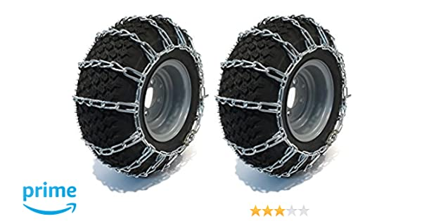 The ROP Shop Pair 2 Link TIRE Chains 16x6.50x8 for MTD//Cub Cadet Lawn Mower Tractor Rider