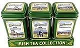 The Connemara Kitchen Set Of Tin Tea, Breakfast, Afternoon & Green Tea