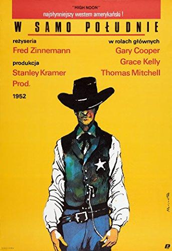 Gary Cooper Movie Poster - High Noon - (Polish, Gary Cooper) Movie Poster 13x19 (33.02 x 48.26 cm)