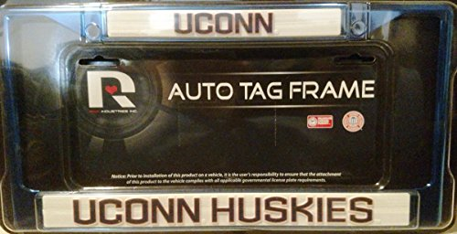 Connecticut Huskies UCONN CUSTOM Navy Colored FRAME Metal Chrome License Plate Tag Cover University of