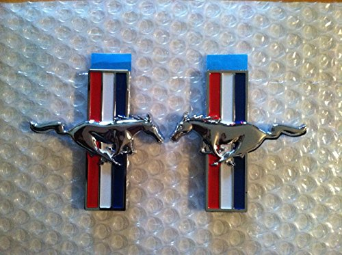 Mustang Fender Emblem - Mustang Emblems OEM Left/Right Side Fits All Ford Mustang Models Universal 2PC Set