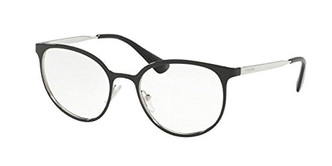 Prada Cinema PR53TV Eyeglass Frames 1AB1O1-50 - Black/Silver PR53TV ...