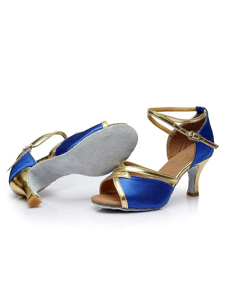 Tookang Mujeres Zapatos Latinos de Baile Zapatillas de Sal/ón Salsa Performance Calzado de Danza Tac/ón 7CM