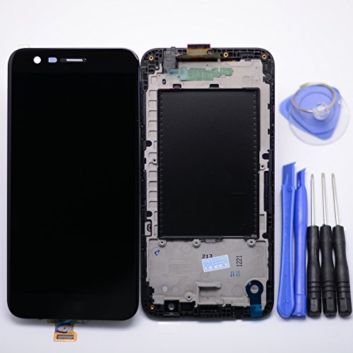 Eaglestar Best Quality Black K20 PLUS Full LCD Assembly With Touch Screen Digitizer and LCD Pre-installed Replacement With Frame For LG K20 Plus T-Mobile TP260 MP260 -(Does Not Fit Verizon K20V) (Verizon Touch Screen)