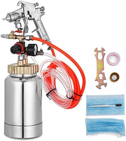 VEVOR Pressure Pot Tank 2L Pressure Pot Paint Sprayer 2 Quar Paint Pressure Pot 1.4mm Nozzle Paint Tank with Gun and Hose Paint 2Qt 1.4mm