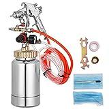 VEVOR Pressure Pot Tank 2L / 2 Quar Paint Pressure Pot 1.0mm Nozzle Paint Tank with Gun and Hose Paint and Body Spray Guns (2Qt 1.0mm)