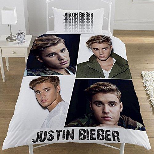 Justin Bieber Montage 2 Piece UK Single/US Twin Sheet Set