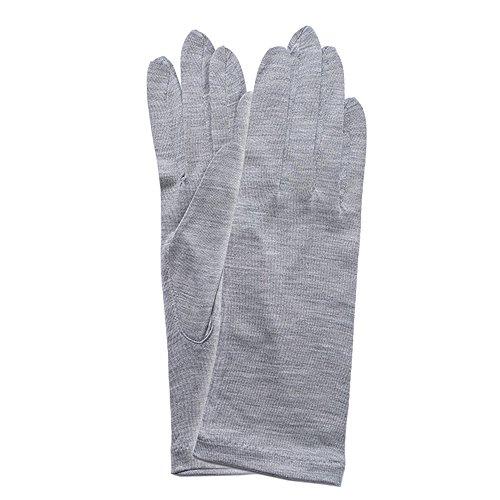 (グローブデポ)GlovesDEPO シルク100% UV手袋 5本指 ショートタイプ アームカバー 生地?縫製日本 F