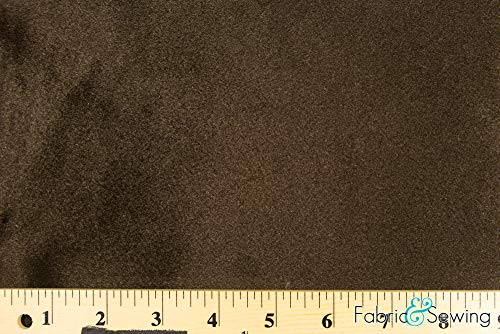 (Brown Velboa Plush Faux Fake Fur Fabric Polyester 14 oz 58-60)