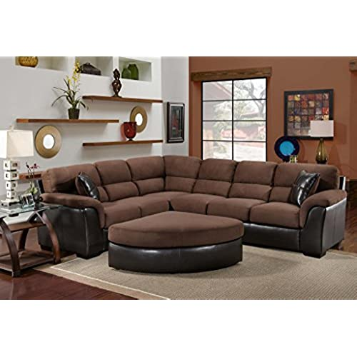 living room sets sectionals. Chelsea Home Furniture McLean 2 Piece Sectional  San Marino Mocha Searider Chocolate Living Room Sectionals Amazon com
