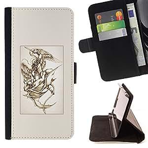 "For HTC One A9,S-type Michael Diablo Lucha Arte"" - Dibujo PU billetera de cuero Funda Case Caso de la piel de la bolsa protectora"
