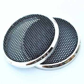 2pc Tweeter Net decorativa Circular con rejilla de protección para 1 pulgadas de altavoces de