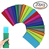 #3: Creatrill 20 Pack Ice Pop Sleeves Popsicle Holders Bags, Neoprene Fabric, 10 Colors
