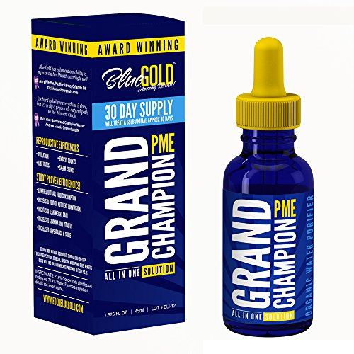 51yOxubv8DL - Blue Gold Grand Champion 30 Day Pet Supplement Study Proven Against Leading Pet Antibiotic. Preventative Pet Dewormer. Increase Pet Health Immune Energy Appetite/Water Intake. Pet Vitamin Fix BioFilm.