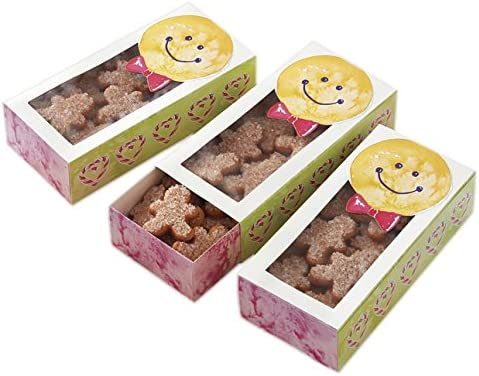 3-Count 415-7219 Wilton Gingerbread Boy Sliding Cookie Boxes
