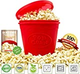 MumsPrefer BPA Free Silicone Popcorn Maker with Recipe eBook - 2 Quarts (6 - 8 Cups)
