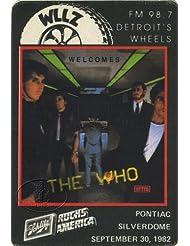 The Who 1982 Radio Promotional Pass Pontiac Silverdome