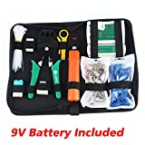 Zoostliss Portable Ethernet Network Tool Cable Tester Kit RJ45 Crimper Plug Crimping tool Set Punch Down RJ11 Cat5 Cat6 Wire Line Detector