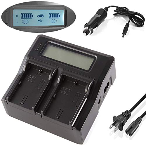 Dual Channel LCD Display Battery Charger for Sony CCD-TRV55, CCD-TRV57, CCD-TRV58, CCD-TRV59 Handycam Camcorder