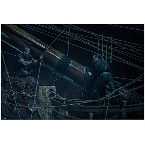 Threatening Sails Toby Stephens as Captain Flint Working on Mast of Ship 8 x 10 Photo