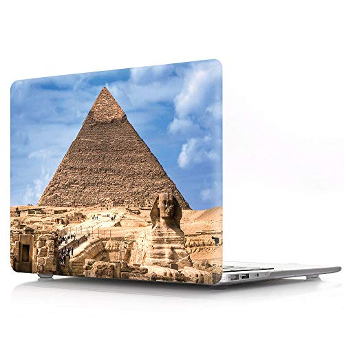 Pyramid Shell - HRH Egyptian Pyramids Pattern Design Laptop Body Shell Protective Hard Case for MacBook New Pro 13 inch with Touch bar A1706 A1989/ Without Touch bar A1708 A1988(2018 2017 2016 Release)