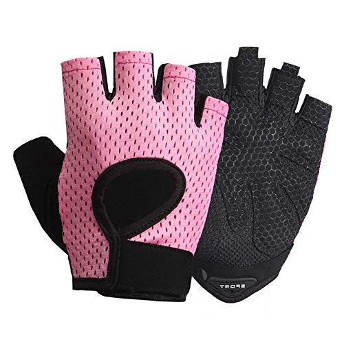 LeerKing Fitnesshandschoenen voor Pole Dance Training Fietshandschoenen Sporthandschoenen zonder pols voor dames en…