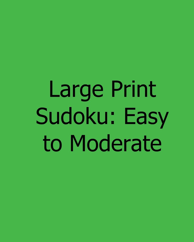 Large Print Sudoku: Easy to Moderate: Fun, Large Print Sudoku Puzzles ebook