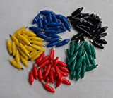 YalinGE 100 pcs Alligator Leads Test Clips for Electrical Jumpers Wire Cable 5 Color