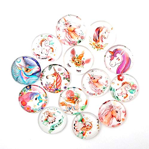 - Crystal Glass Refrigerator Magnets Toshine 14 PackUnicorn Fridge Magnets Decorative Magnets Funny Magnets for Holiday Gift Office Cabinets Whiteboards Decorative Photo 1.38 IN