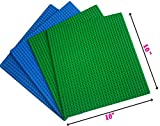 """DreambuilderToy Classic Building Base Plates 32x32 pegs or 10"""" x 10"""" Baseplates - Compatible with All Major Brands (2green+ 2blue)"""