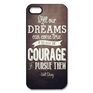 Case For Ipod Touch 5 Cover Hard Back Protective-Unique Design Cute Dreams Walt Disney Quote Case Perfect as Christmas gift(4)