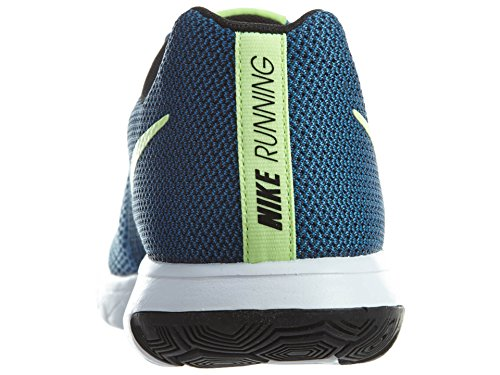 Nike Flex Experience RN 4 Laufschuh Star Blue / Ghost Grün-Schwarz-Weiß