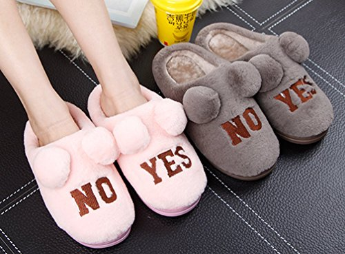 Cattior Womens Winter Indoor Warm Slippers Cute Slippers Pink j9OzwW0