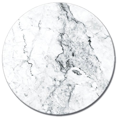 CounterArt Lazy Susan Carrara Marble tempered glass serving plate 13