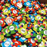Madelaine Chocolate Assorted Poker Chips - Las Vegas Casino Coins in Colorful Foil - 1 Pound