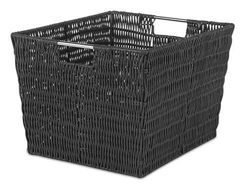 Whitmor Rattique Storage Tote Black product image