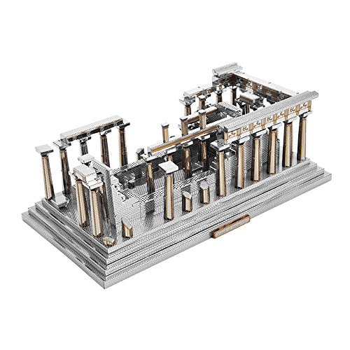 3D Metal Puzzle Mini Model Building Kit Ancient Greek Architecture DIY Laser Cut Jigsaw Toy for Adult - Microworld J048 Temple of Athena