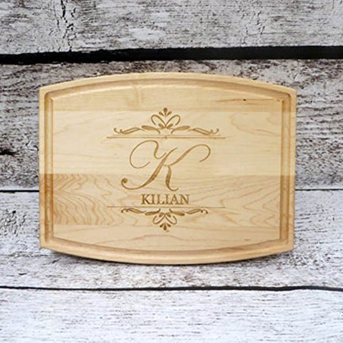 Personalized cutting board walnut maple house warming