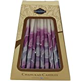 Majestic Giftware SC-CP32 Safed Handcrafted Hanukkah Candles, 6-Inch, Purple/White, 45-Pack