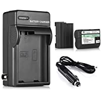 Powerextra 2 Pack Replacement Battery and Charger for Nikon EN-EL15 and Nikon D850, D7100, D750, D7000, D7200, D810, D610, D800, D850, D600, D800e, D810a, 1 v1 Cameras